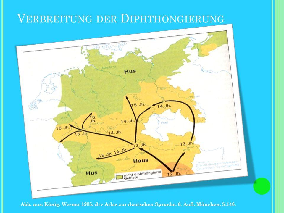 Verbreitung der Diphthongierung