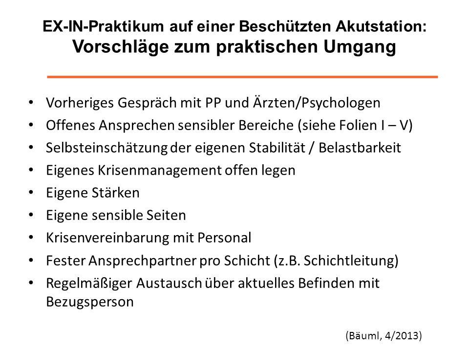 Vorheriges Gespräch mit PP und Ärzten/Psychologen