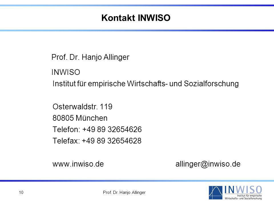 Kontakt INWISO Prof. Dr. Hanjo Allinger INWISO