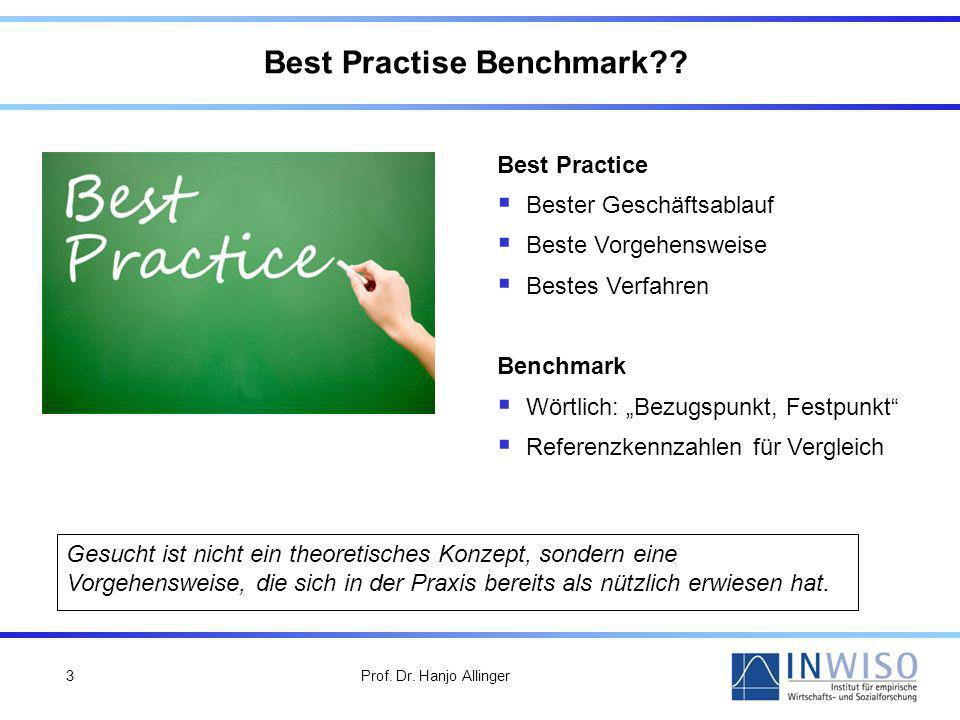 Best Practise Benchmark