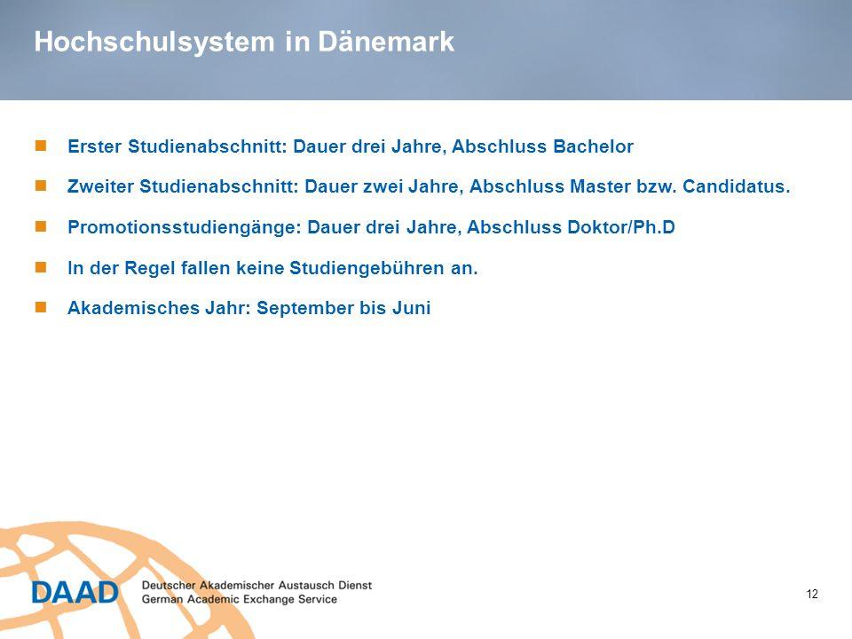 Hochschulsystem in Dänemark