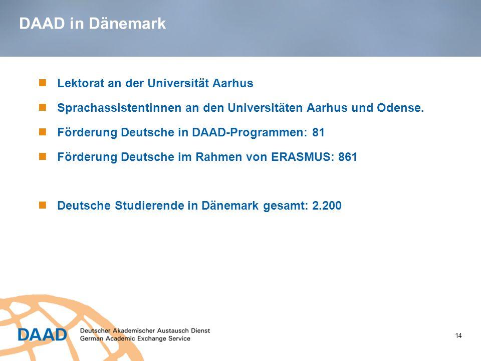 DAAD in Dänemark Lektorat an der Universität Aarhus