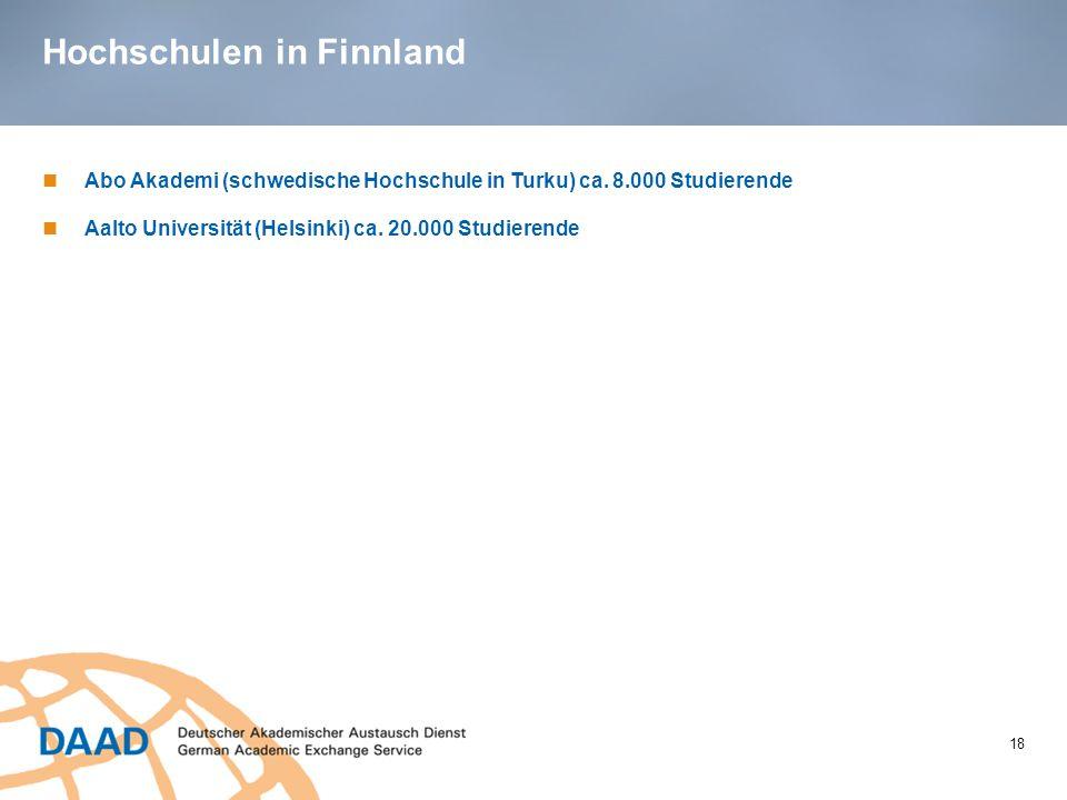 Hochschulen in Finnland