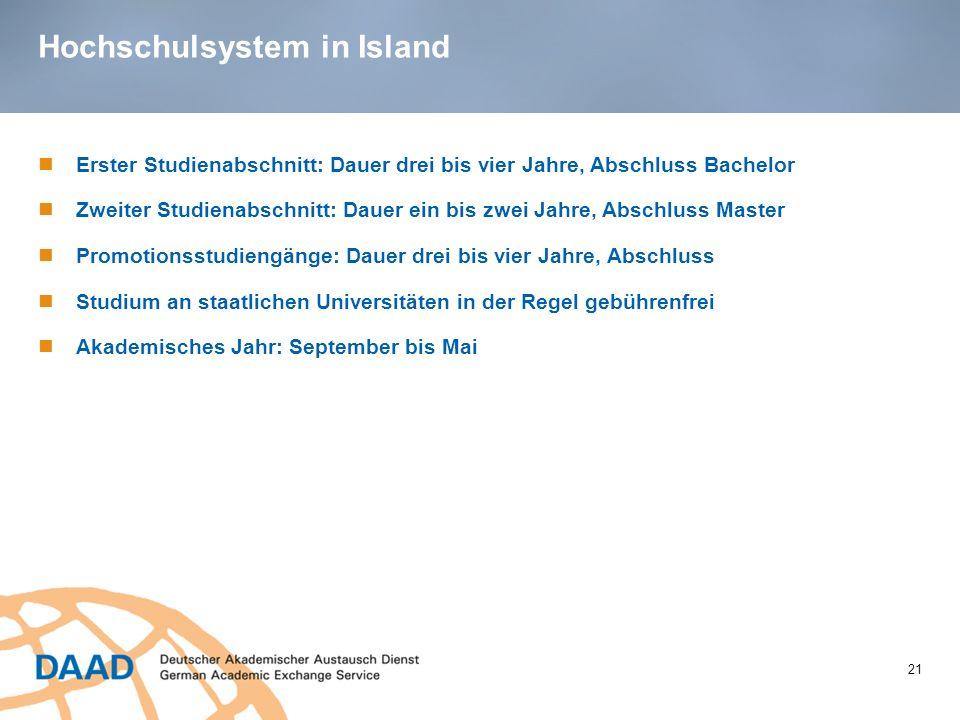 Hochschulsystem in Island