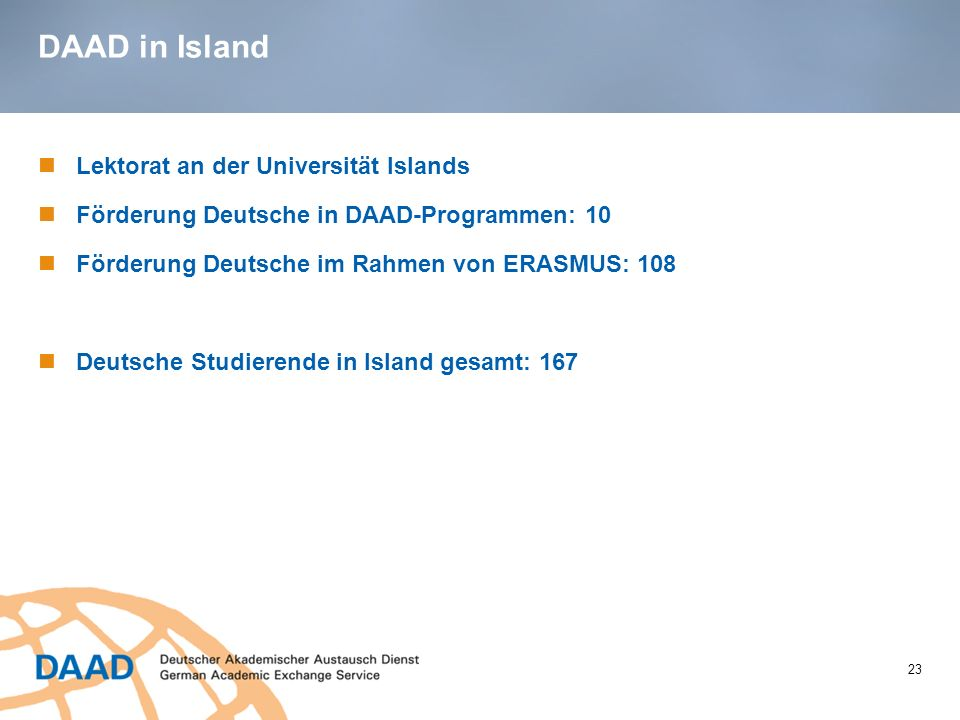 DAAD in Island Lektorat an der Universität Islands