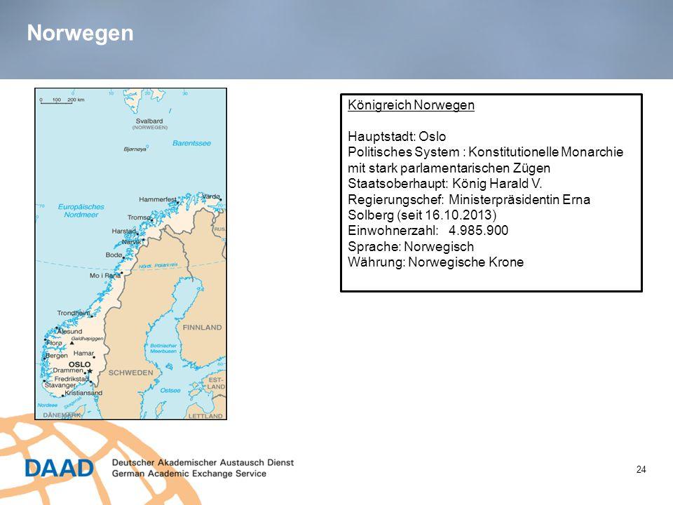 Norwegen Königreich Norwegen Hauptstadt: Oslo