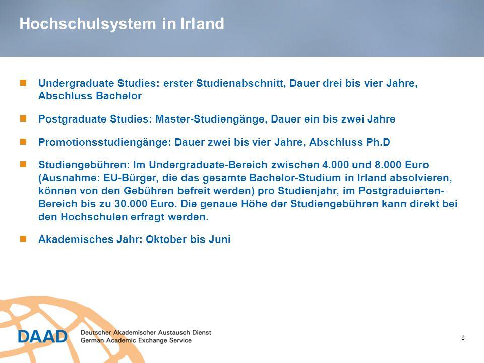 Hochschulsystem in Irland