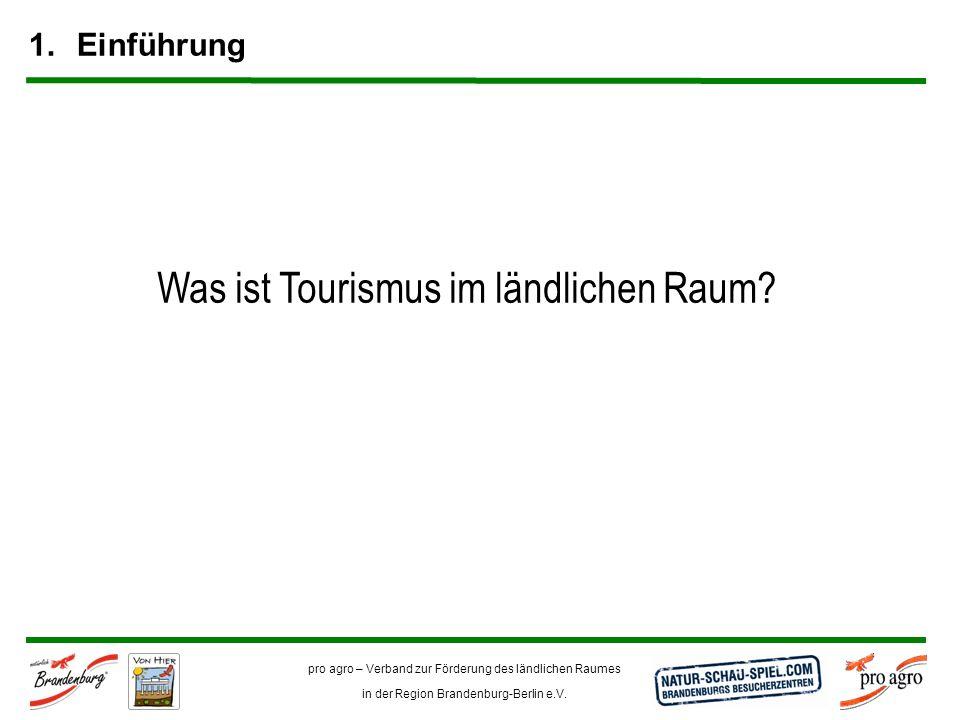 Was ist Tourismus im ländlichen Raum