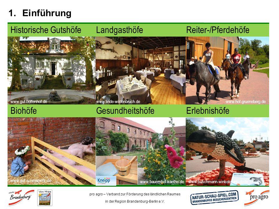 Einführung Reiter-/Pferdehöfe Historische Gutshöfe Landgasthöfe
