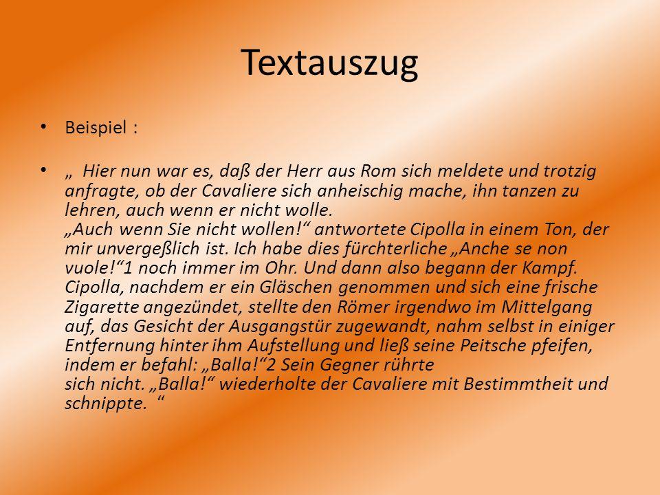 Textauszug Beispiel :