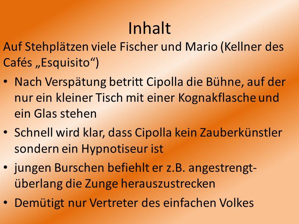 """Inhalt Auf Stehplätzen viele Fischer und Mario (Kellner des Cafés """"Esquisito )"""