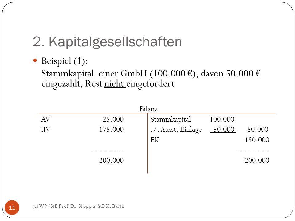 2. Kapitalgesellschaften
