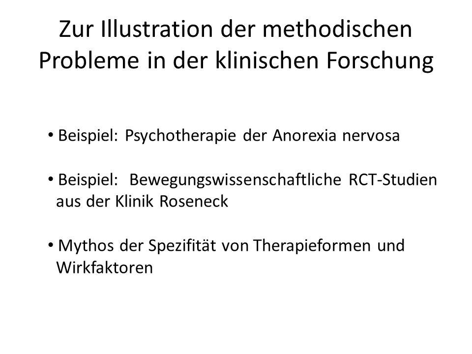 Zur Illustration der methodischen Probleme in der klinischen Forschung