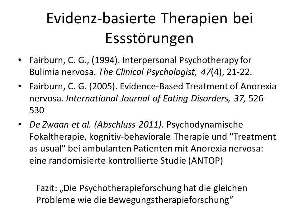 Evidenz-basierte Therapien bei Essstörungen