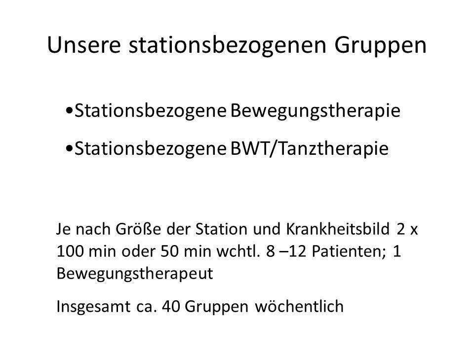 Unsere stationsbezogenen Gruppen