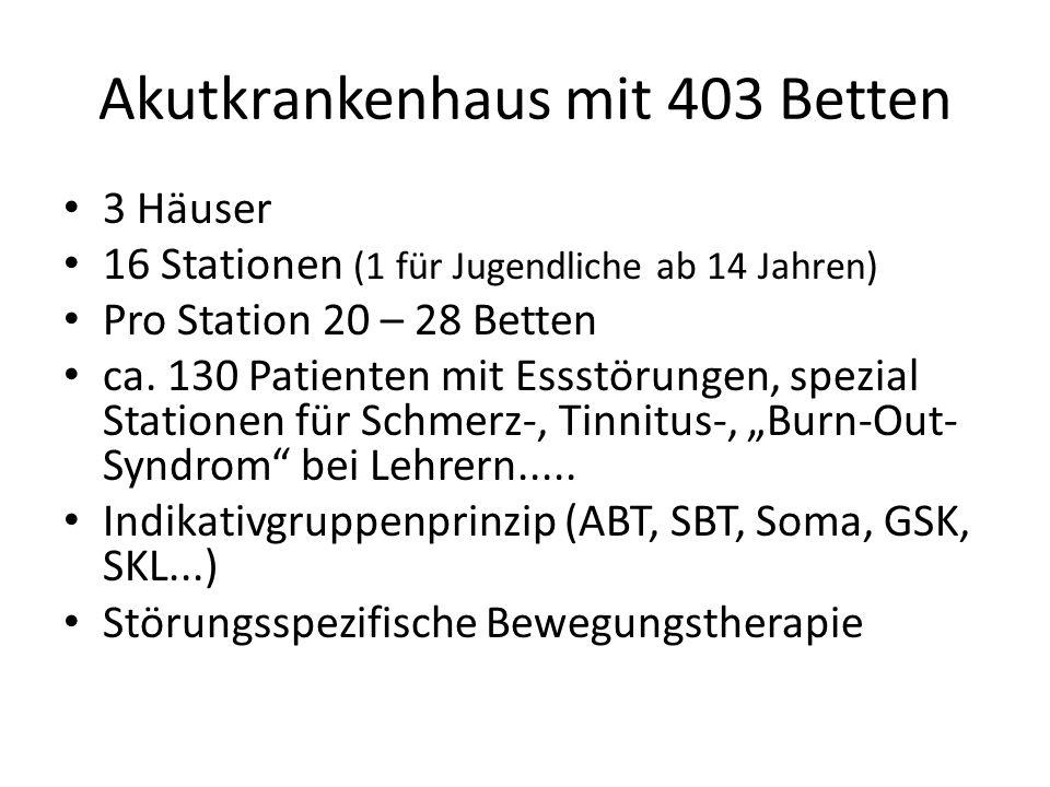 Akutkrankenhaus mit 403 Betten