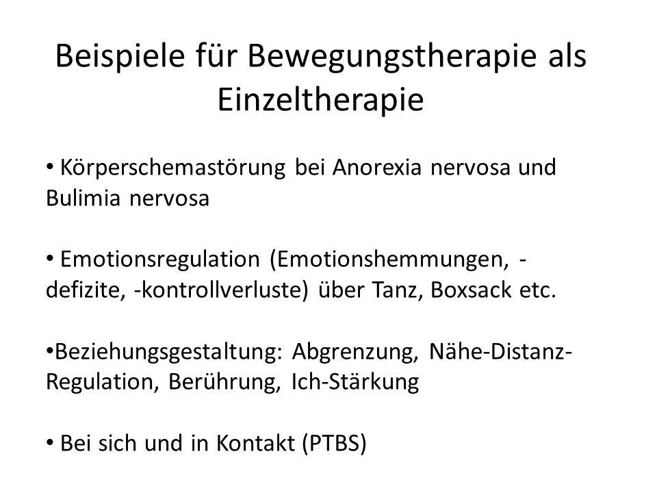 Beispiele für Bewegungstherapie als Einzeltherapie