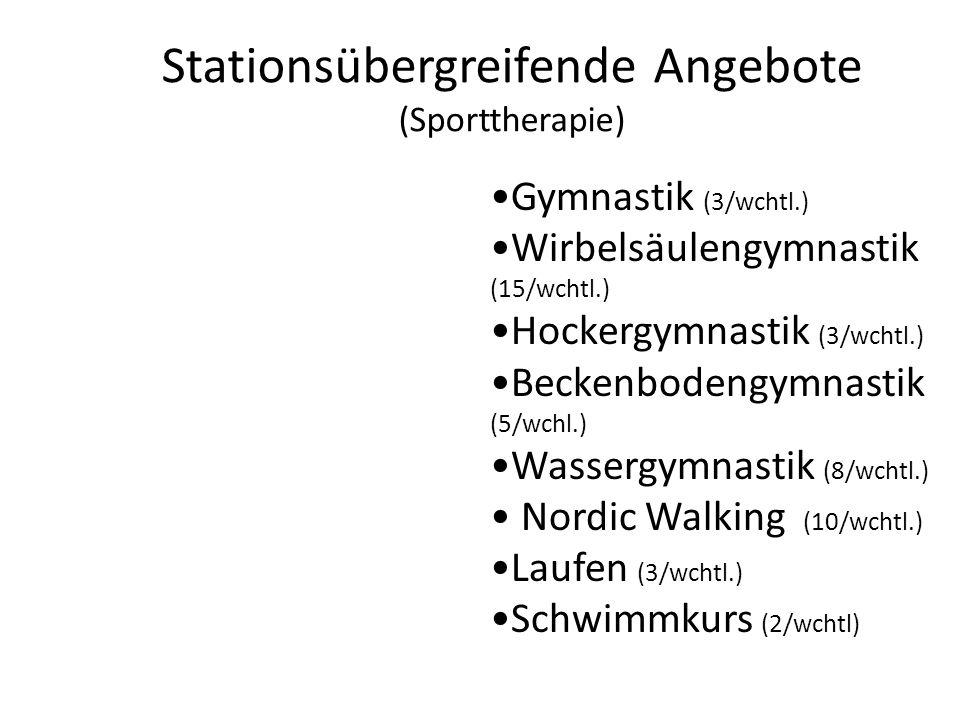 Stationsübergreifende Angebote (Sporttherapie)