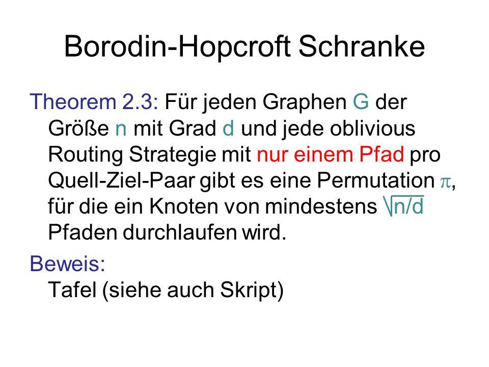 Borodin-Hopcroft Schranke