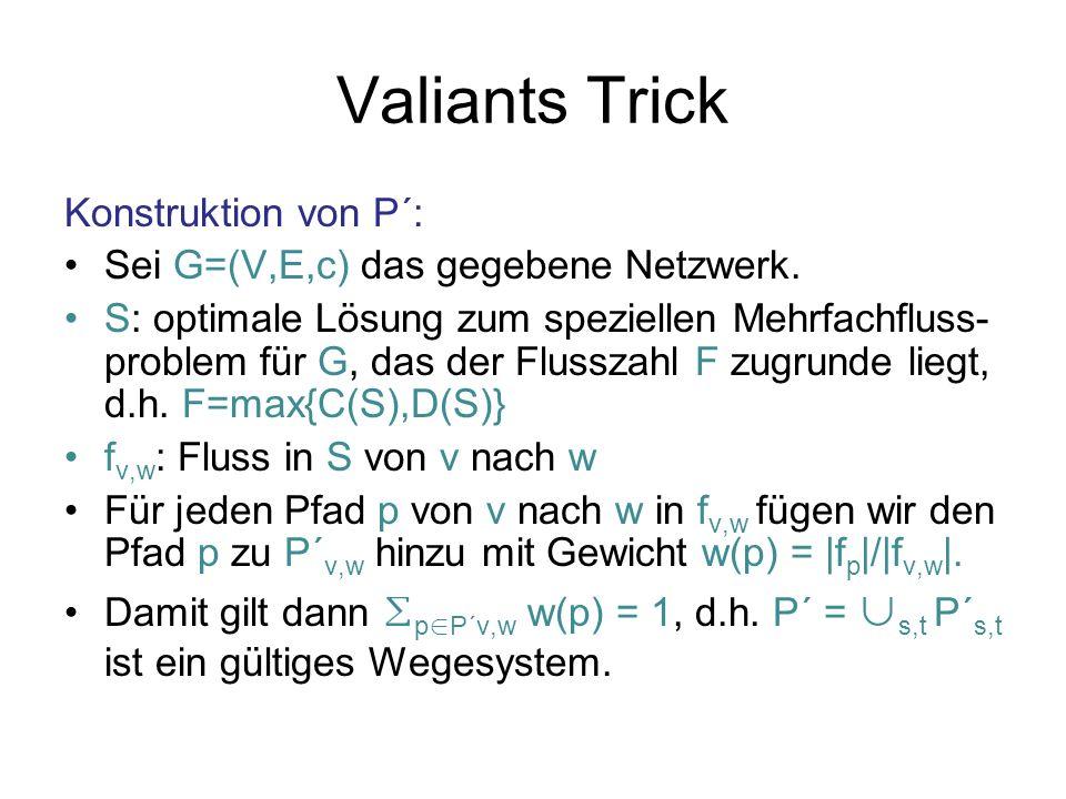 Valiants Trick Konstruktion von P´: