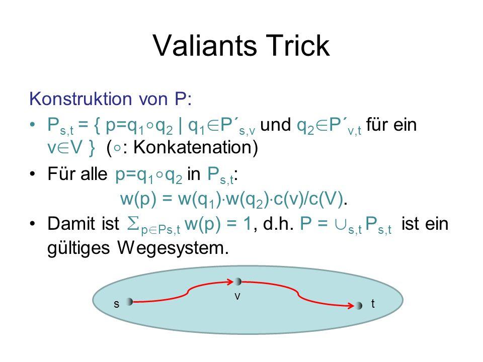 Valiants Trick Konstruktion von P: