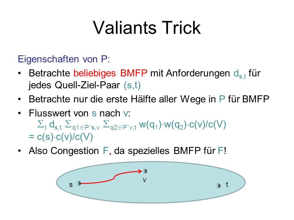 Valiants Trick Eigenschaften von P: