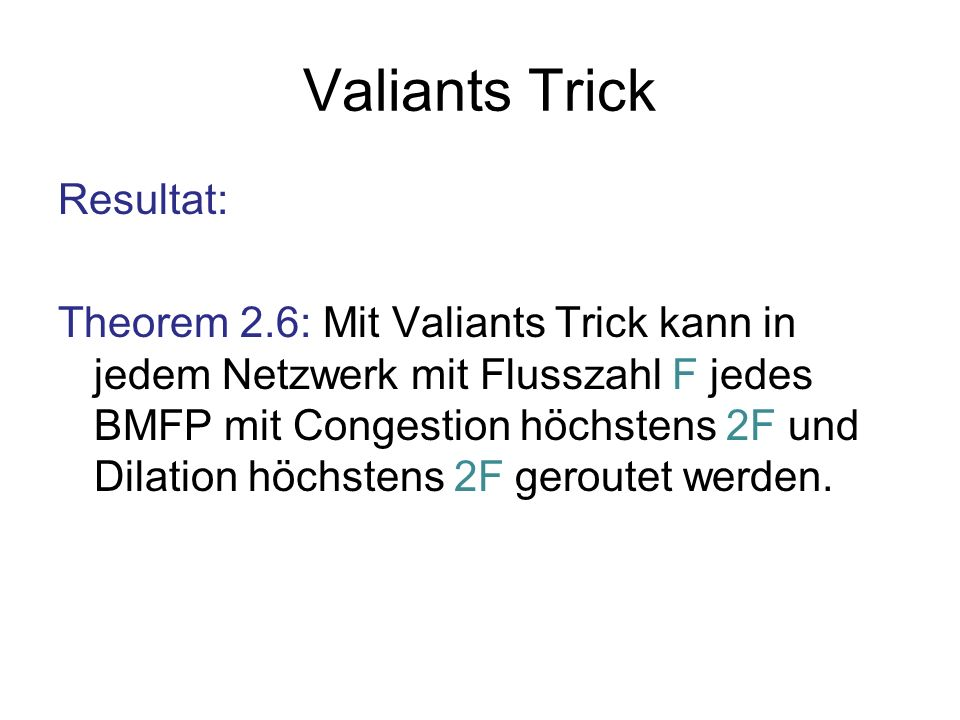 Valiants Trick