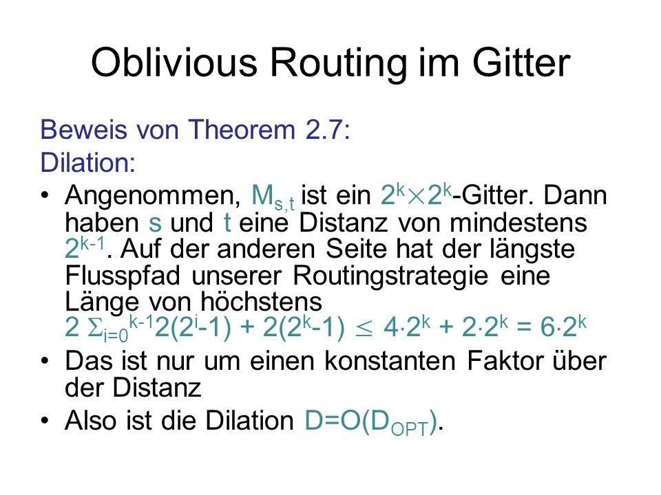 Oblivious Routing im Gitter
