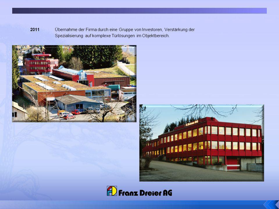 2011 Übernahme der Firma durch eine Gruppe von Investoren, Verstärkung der