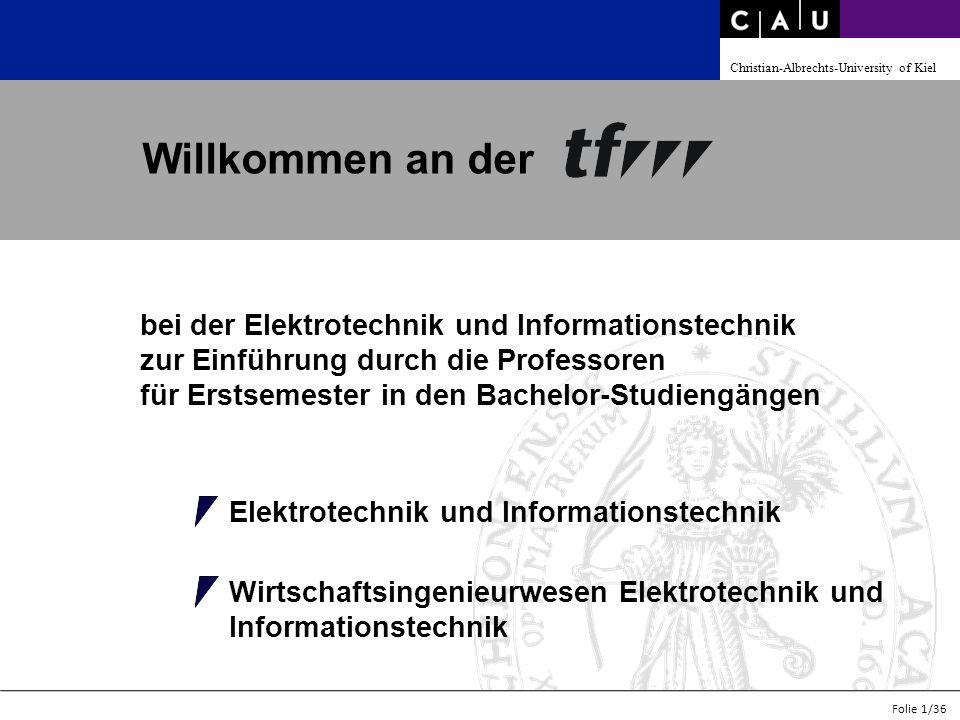 Willkommen an der bei der Elektrotechnik und Informationstechnik