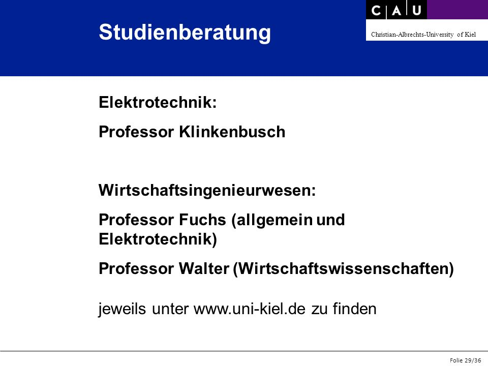 Studienberatung Elektrotechnik: Professor Klinkenbusch