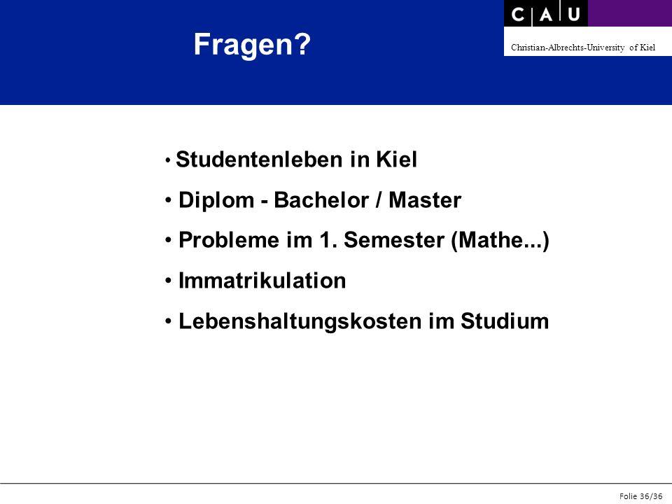 Fragen Diplom - Bachelor / Master Probleme im 1. Semester (Mathe...)