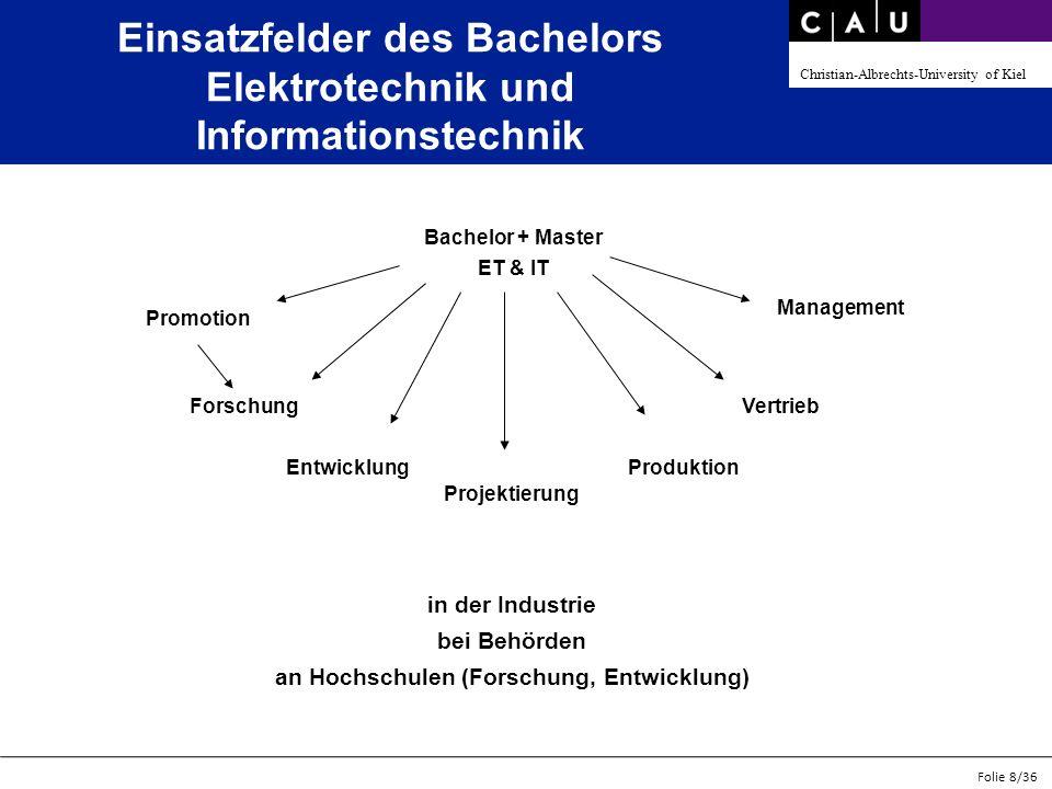 Einsatzfelder des Bachelors Elektrotechnik und Informationstechnik
