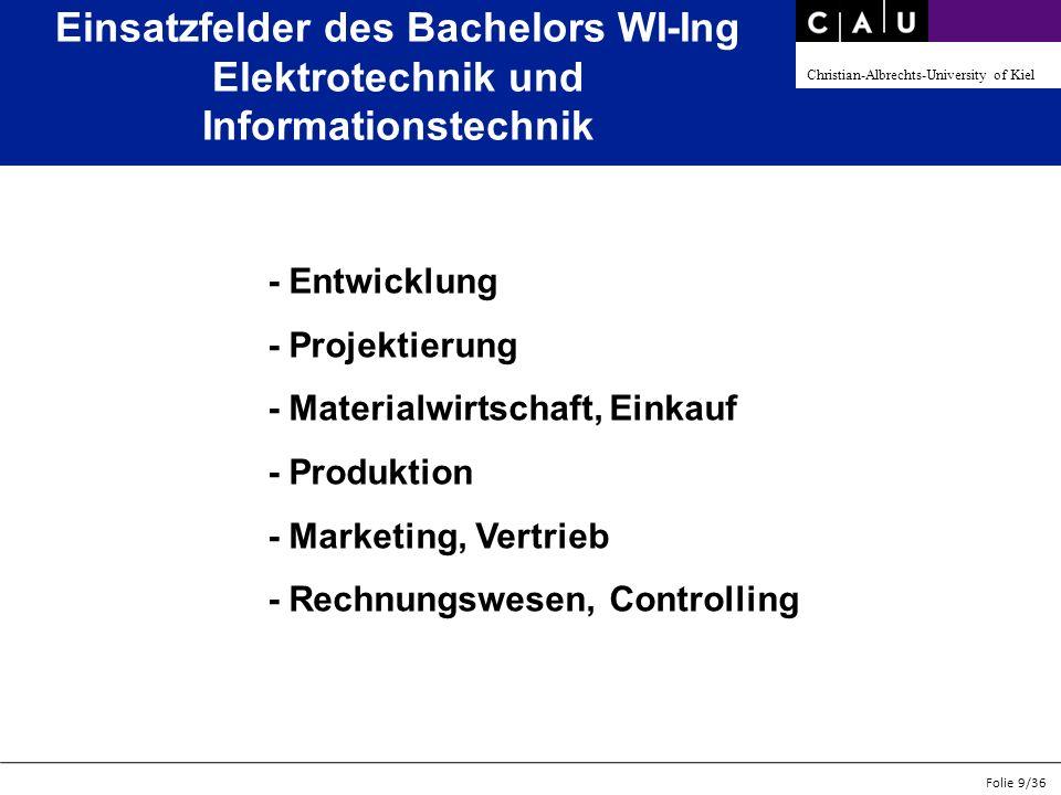 Einsatzfelder des Bachelors WI-Ing