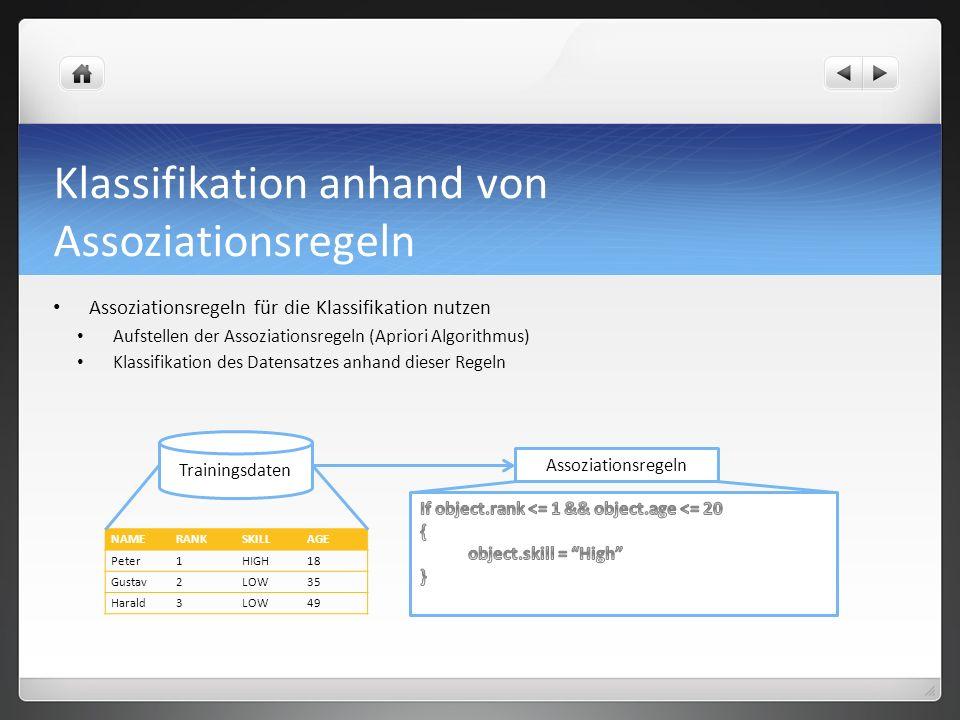 Klassifikation anhand von Assoziationsregeln