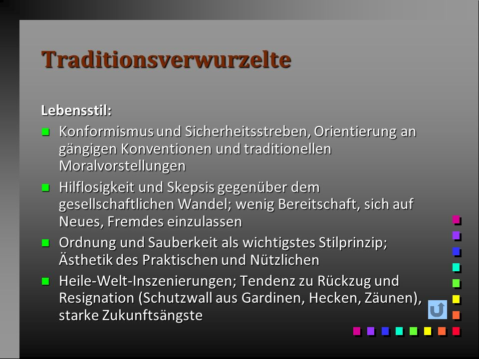 Traditionsverwurzelte