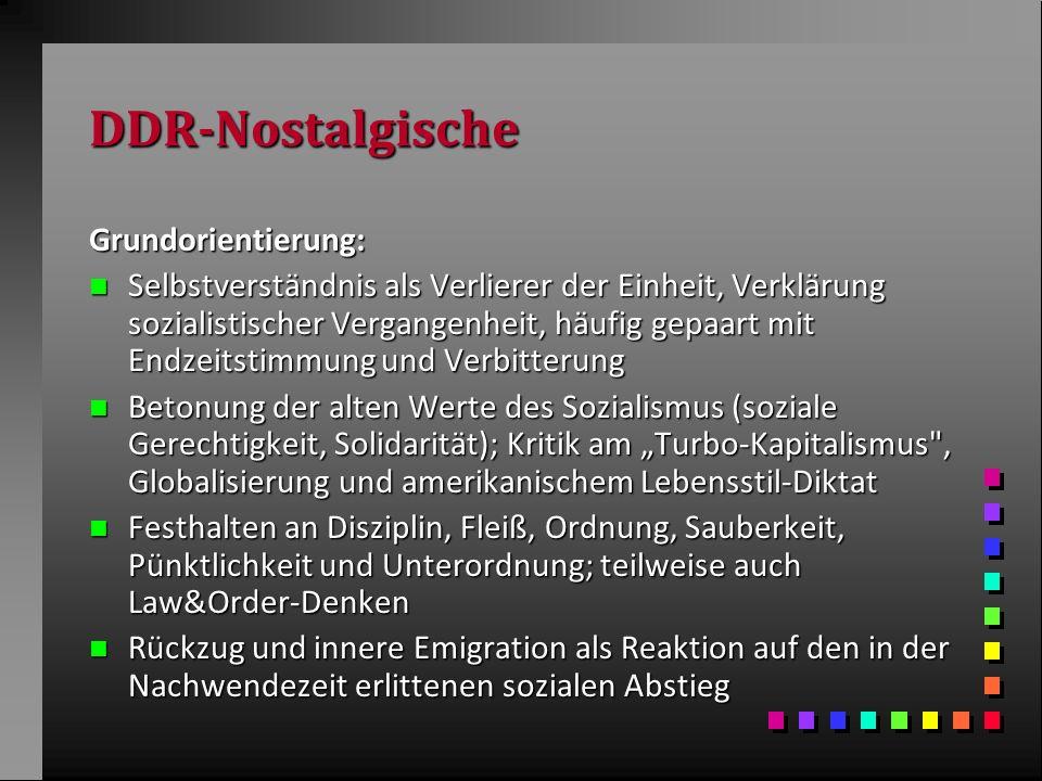 DDR-Nostalgische Grundorientierung:
