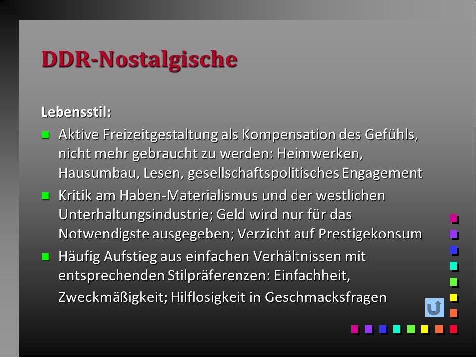 DDR-Nostalgische Lebensstil:
