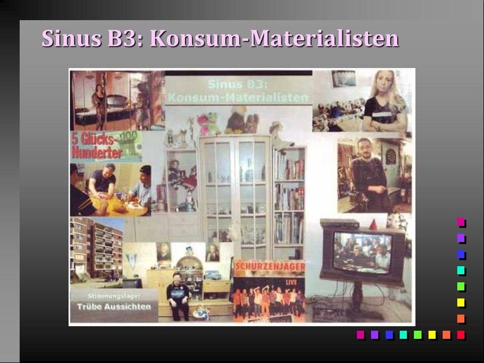 Sinus B3: Konsum-Materialisten