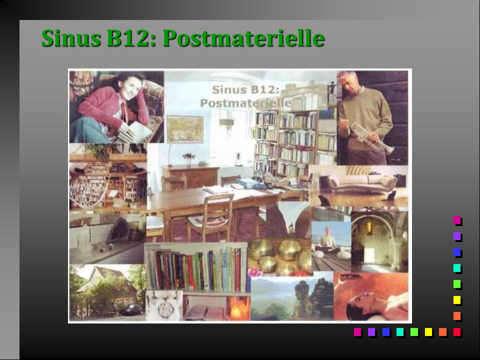 Sinus B12: Postmaterielle