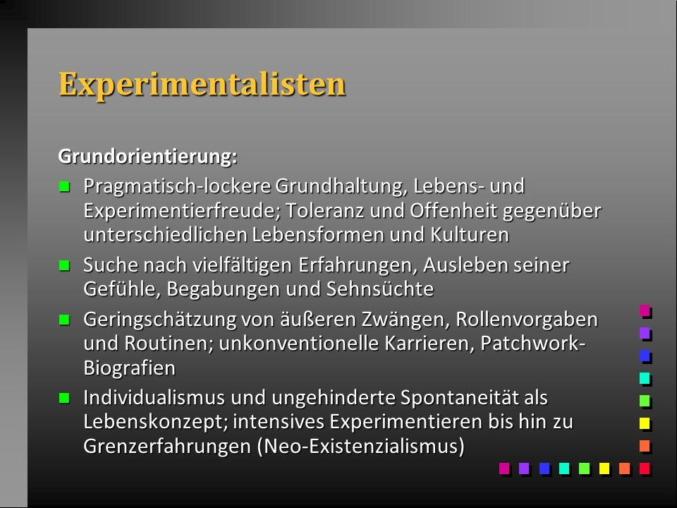 Experimentalisten Grundorientierung: