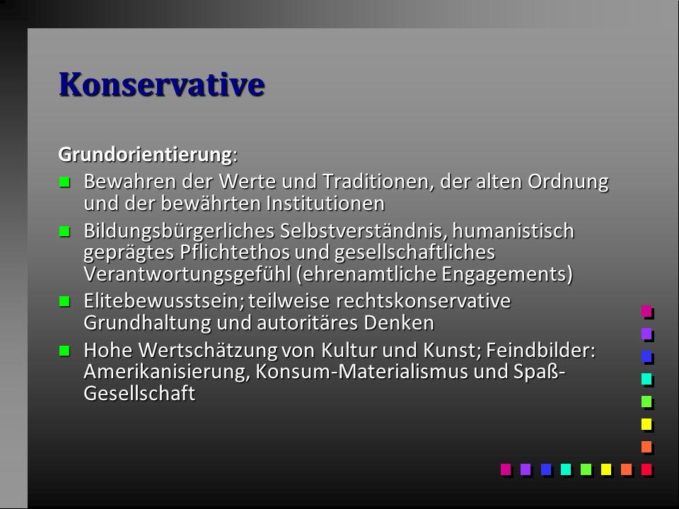 Konservative Grundorientierung: