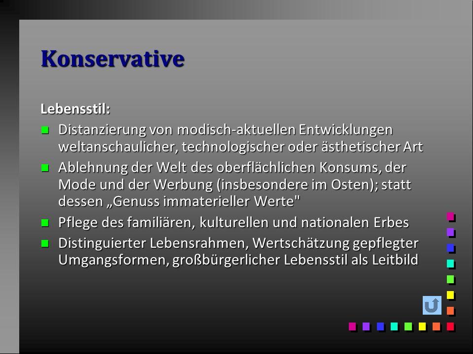 Konservative Lebensstil: