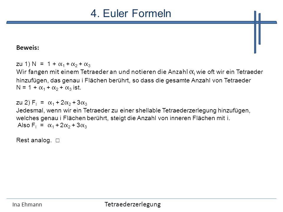 4. Euler Formeln Beweis: