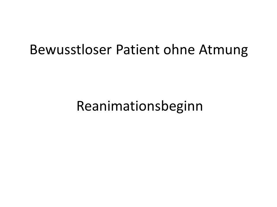 Bewusstloser Patient ohne Atmung