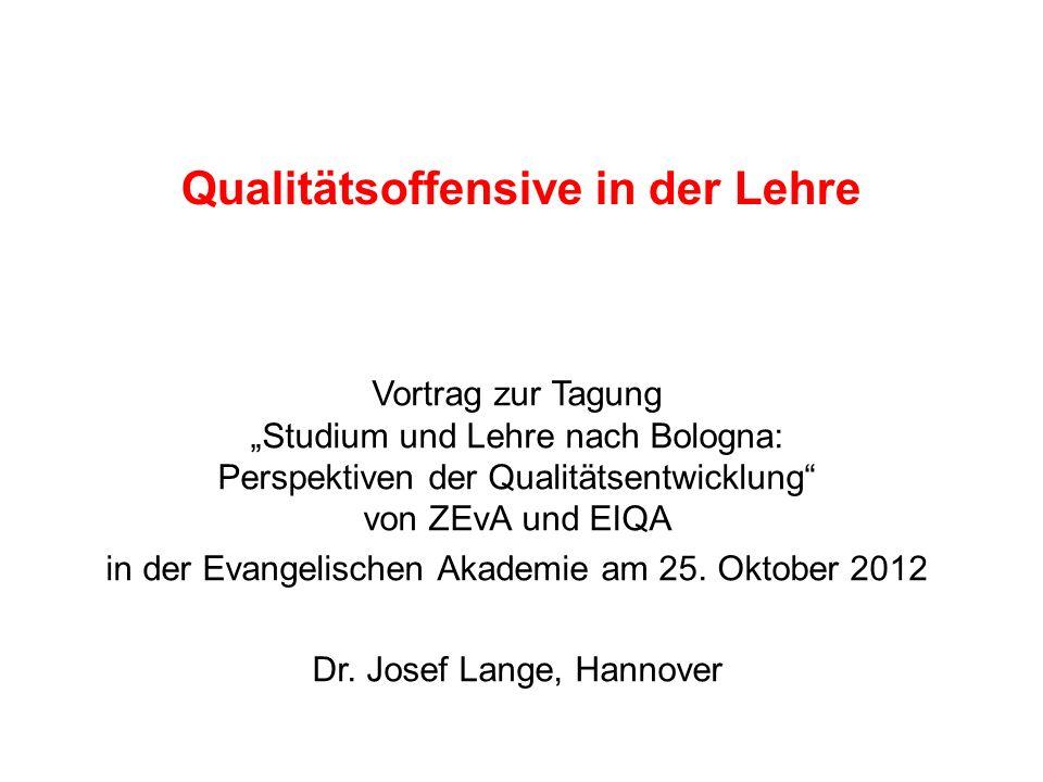 Qualitätsoffensive in der Lehre