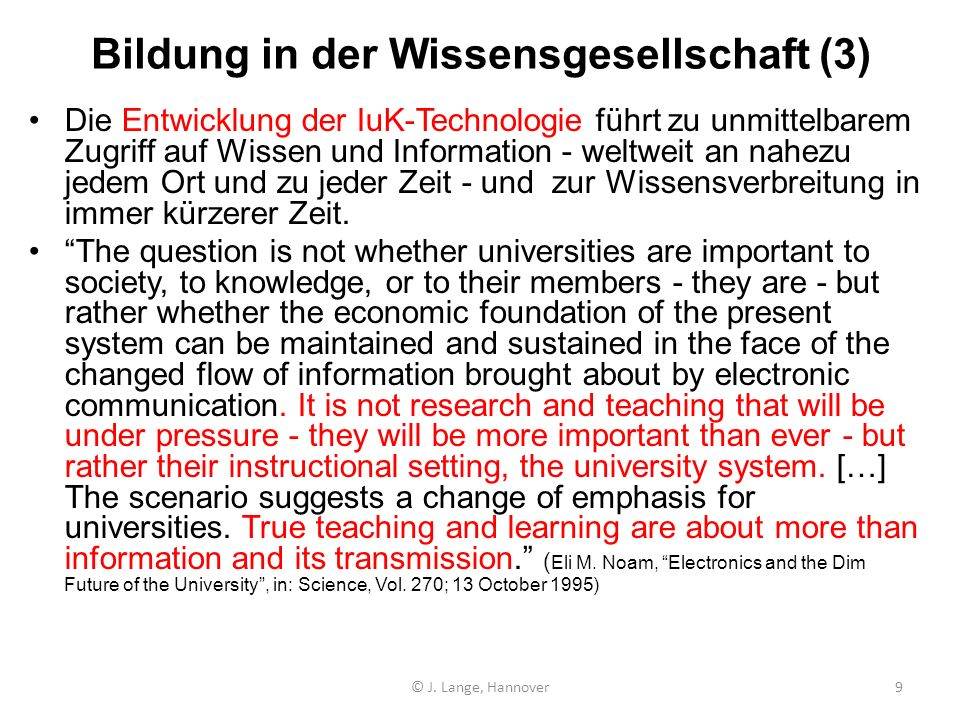 Bildung in der Wissensgesellschaft (3)