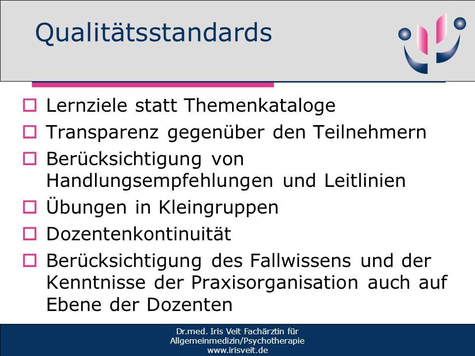 Qualitätsstandards Lernziele statt Themenkataloge