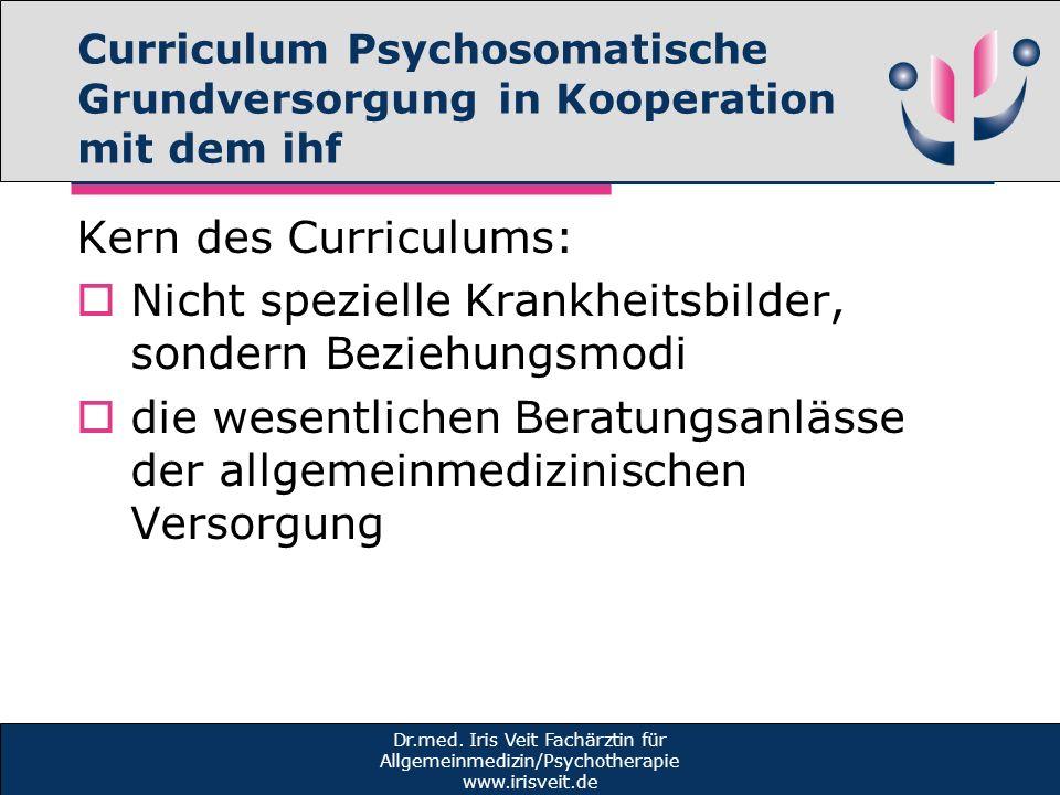 Curriculum Psychosomatische Grundversorgung in Kooperation mit dem ihf
