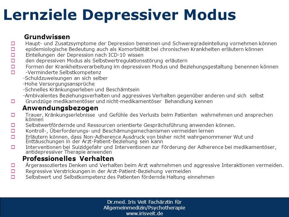 Lernziele Depressiver Modus
